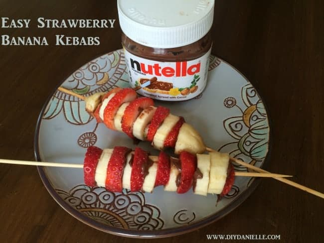 Learn how to make these fabulous strawberry banana kebabs!