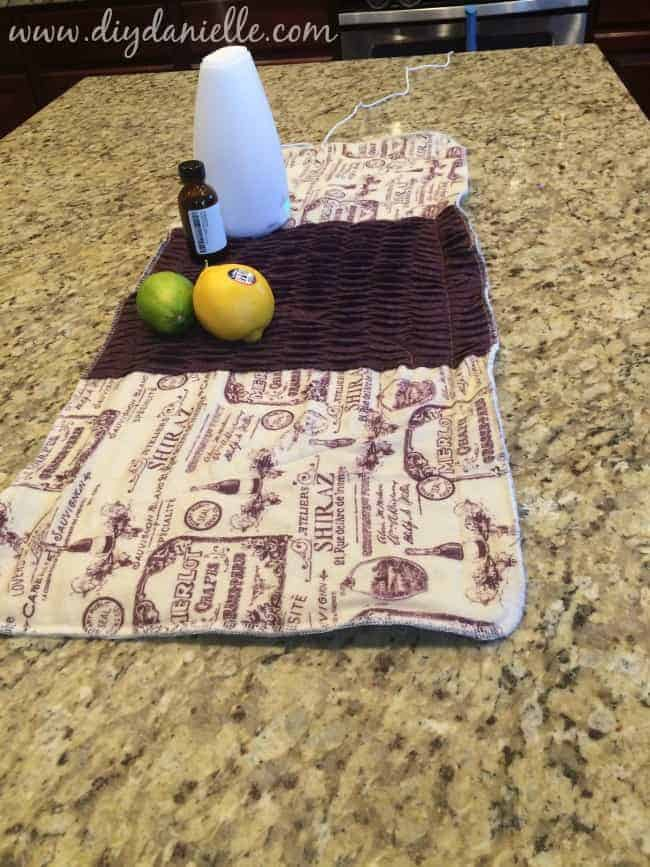 How to sew an absorbent table runner.