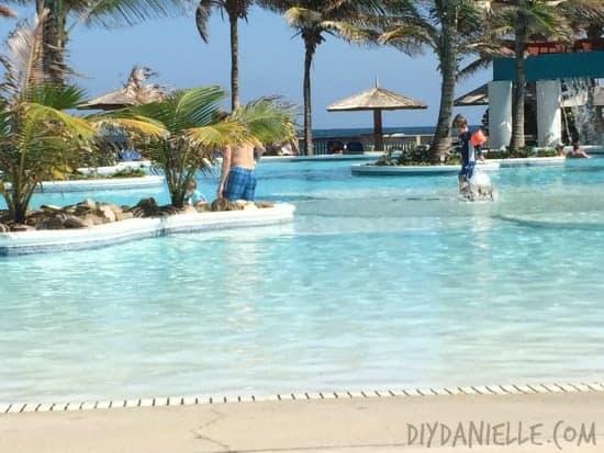 Beach entrance at the CBay Resort Pool