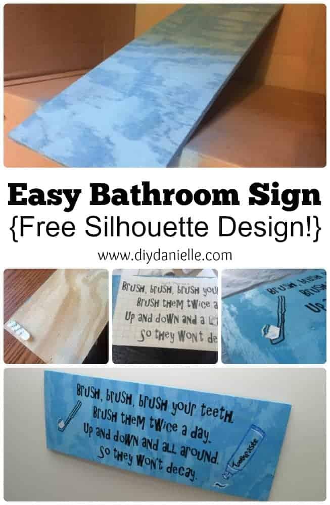 DIY Child's Bathroom Sign