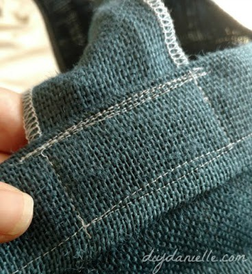 Sew on the strap well.