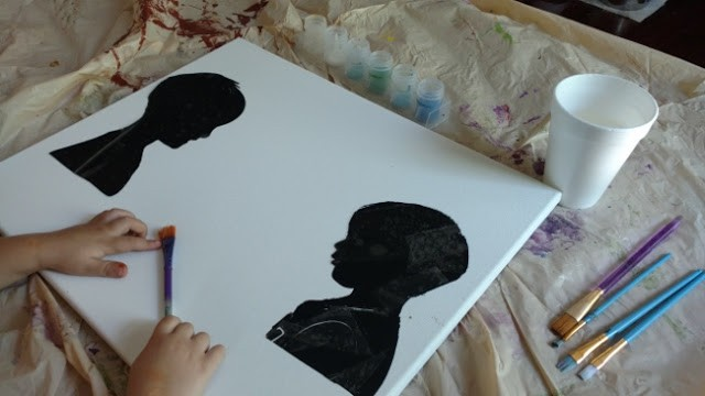 Placed the silhouette onto the canvas.