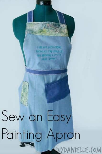 Love this DIY painting apron.