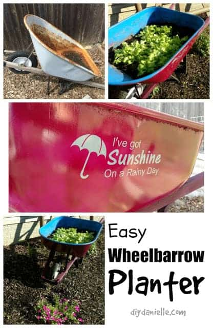 Great wheelbarrow repurpose idea!