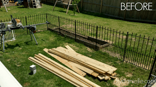 Wood for building a deck skirting.