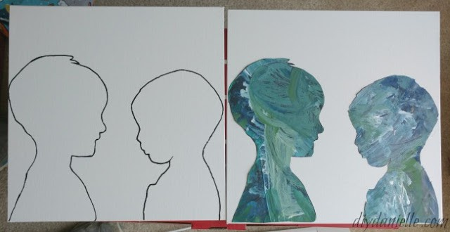 Silhouette canvas ideas side by side.