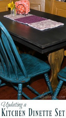 Refinished Kitchen Table and Benches