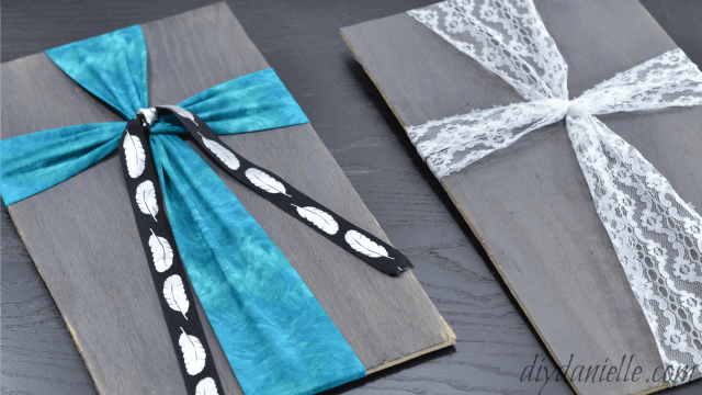 Make Fabric Crosses on Painted or Stained Wood