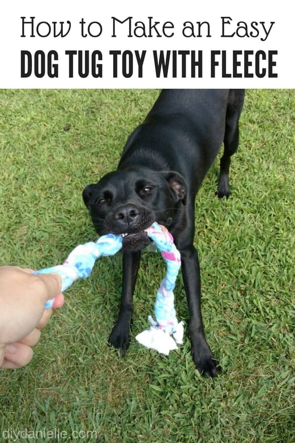 How to make an easy dog toy from scrap fleece.