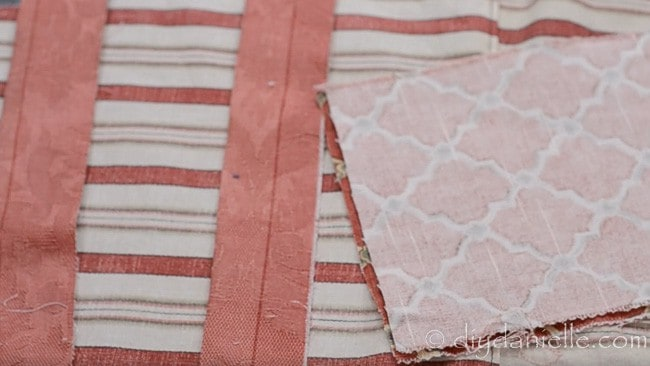 Fabric pieces from apron pattern.
