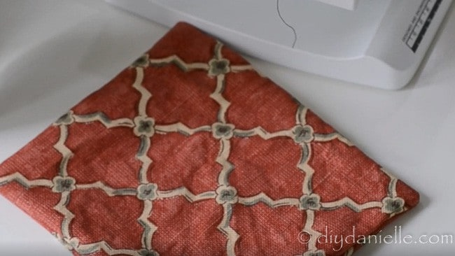 Creating two pockets for apron.