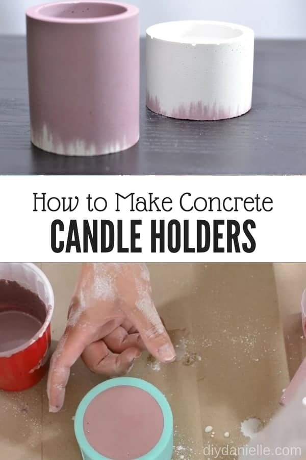 Learn how to make concrete candle holders quickly and easily. These make great gifts for family and friends.