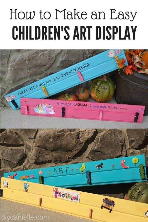 DIY Children's Art Displays- super easy and cute.