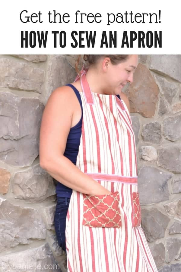 Learn to sew an easy apron to cover and protect your clothing using this free pattern.