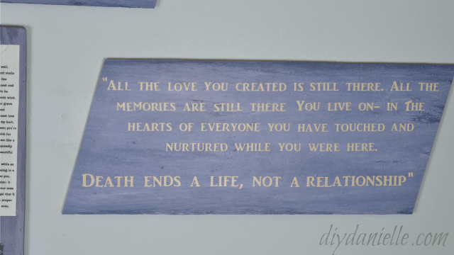 Coping with Grief: Creating a Memorial Wall