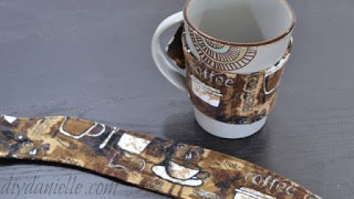 Mug cozies would be a nice DIY stocking stuffer that you can make with scrap fabric.