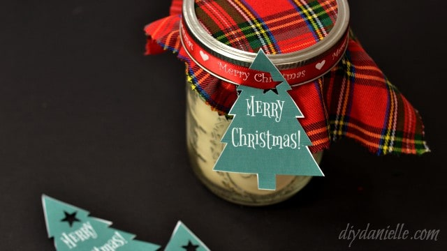 Handmade candles in mason jars for holiday gifts.