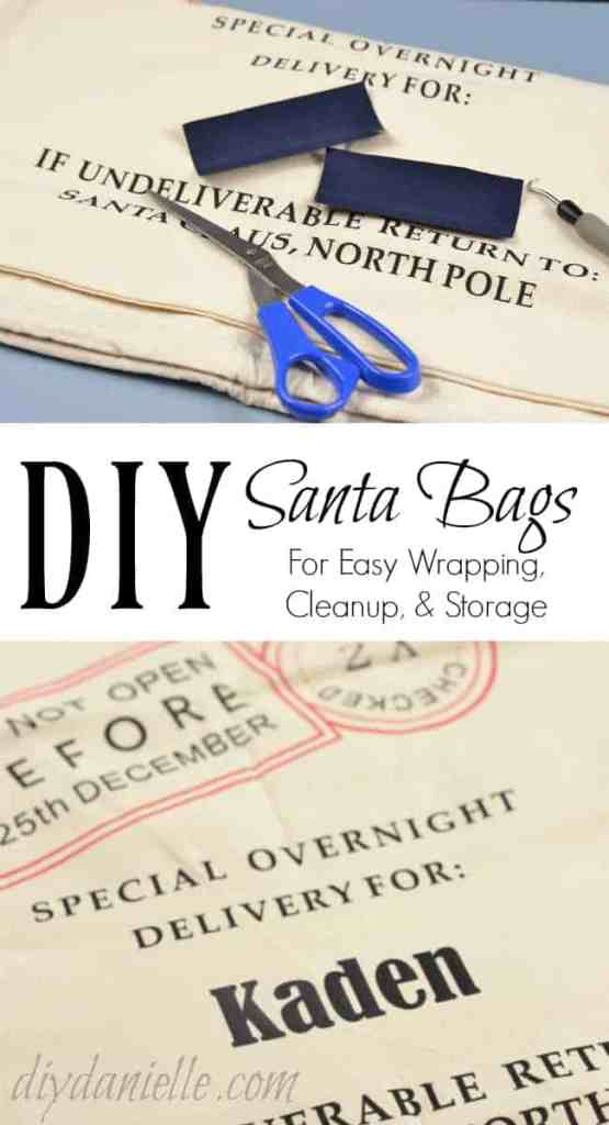 DIY Santa Bags for Easy Wrapping, Cleanup, and Storage