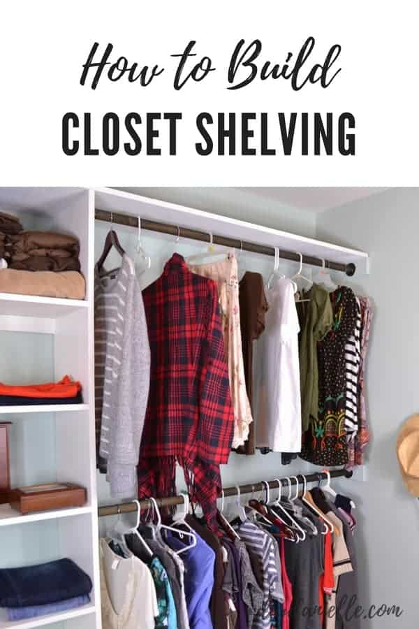 How to build closet shelves. Easy DIY to save money on a walk-in closet renovation.