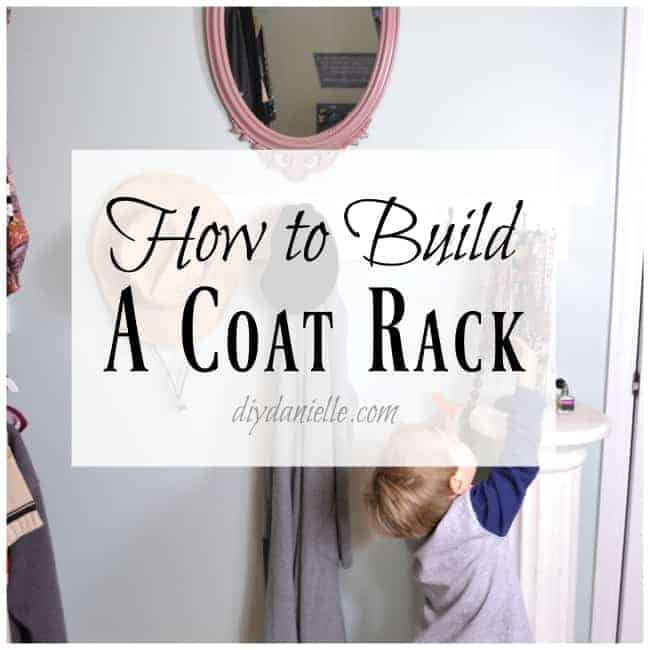 Simple instructions on how to build custom coat hangers for the wall.