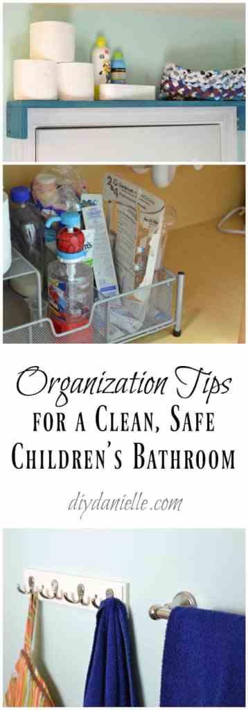 Organizing a Child's Bathroom
