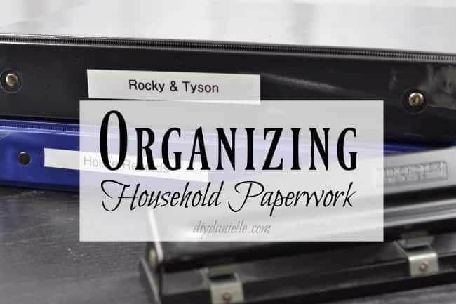 Organizing important paperwork to declutter your home.