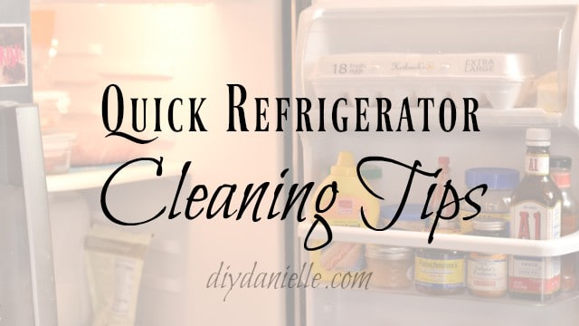 Quick refrigerator cleaning tips!