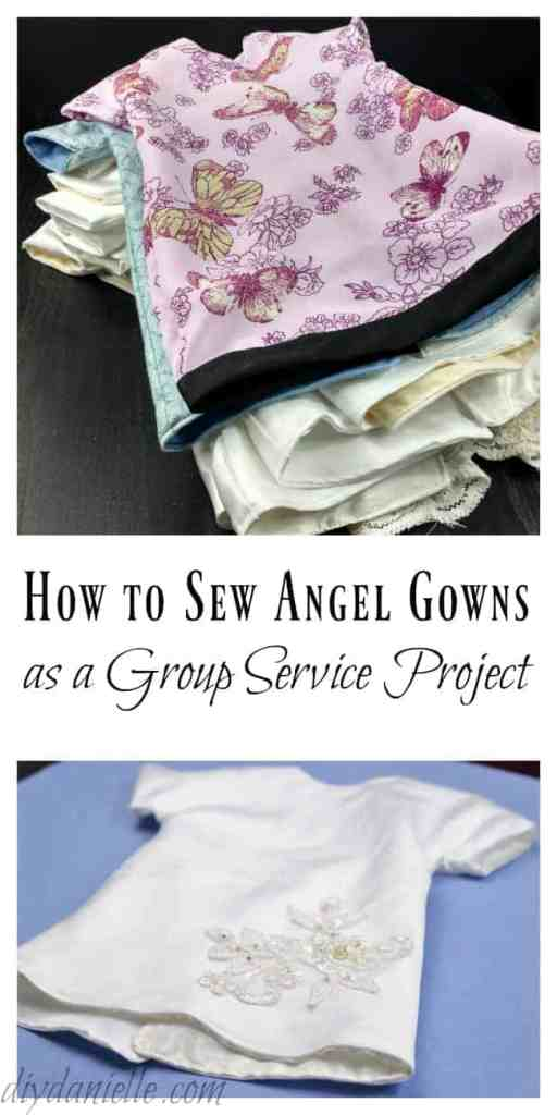 How to Sew Angel Gowns from Wedding Dresses - DIY Danielle