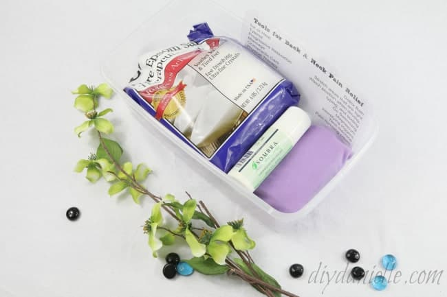 How to Create a Back and Neck Pain Relief Kit