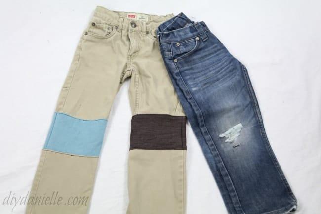 How to Repair Holes in the Knees of Pants