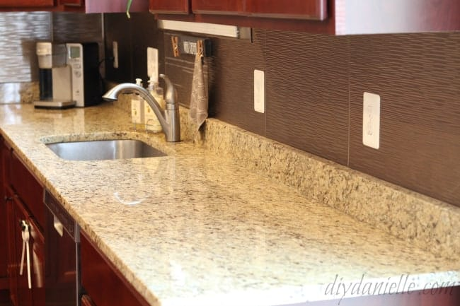 Brushed Nickel backsplash