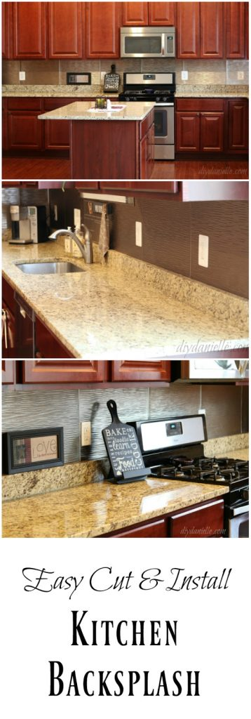 DIY Kitchen Backsplash without a wet saw.