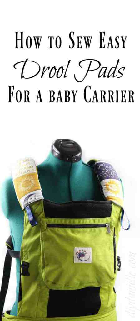 DIY Drool Pads for Baby Carrier
