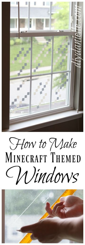 DIY Minecraft Themed Windows