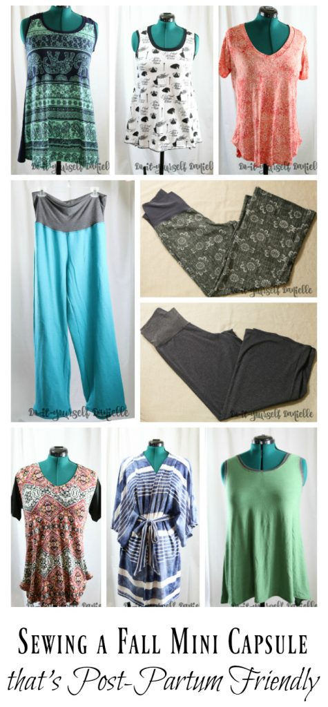 Fall clothing choices to sew during pregnancy that will still fit after the baby is born.