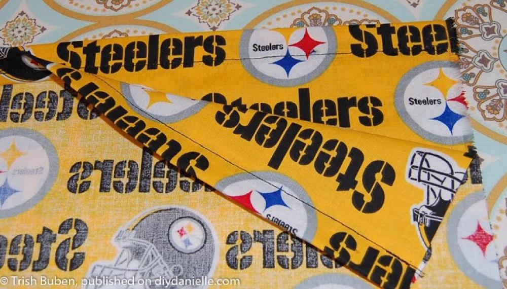 Sewing a pillowcase dress for spirit wear: Steelers dress!