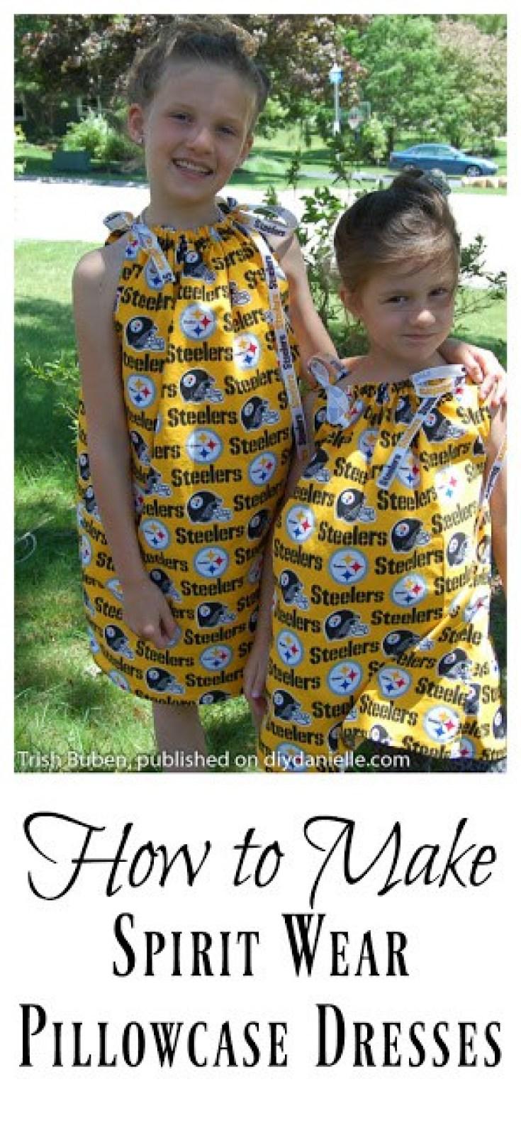 Sew an Easy Pillowcase Dress for Football Season!