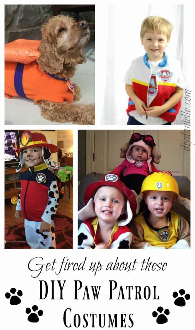 DIY Paw Patrol Halloween Costumes