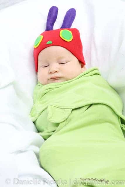 Easy DIY Newborn Costume Idea: The Hungry Caterpillar