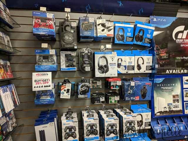 PS4 accessories.