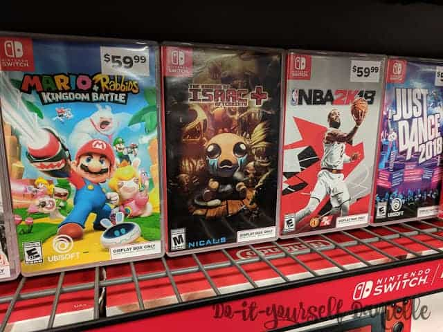 Ratings for the Nintendo Switch are shown in the bottom left of each game.
