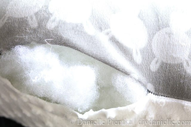 Stuff your nursing pillow with fiberfill.