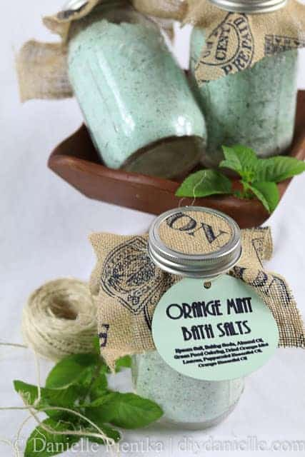 Simple Orange Mint Bath Salt Recipe