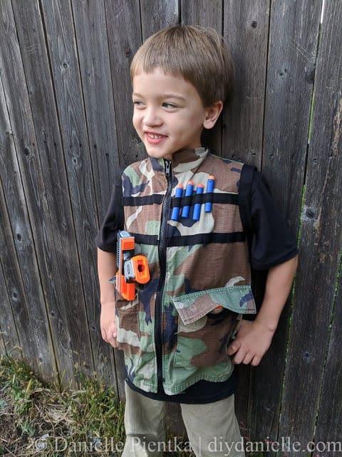 DIY Nerf Camo Vests