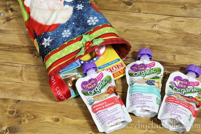Parent's Choice Organic Food Pouches for Stocking Stuffers.