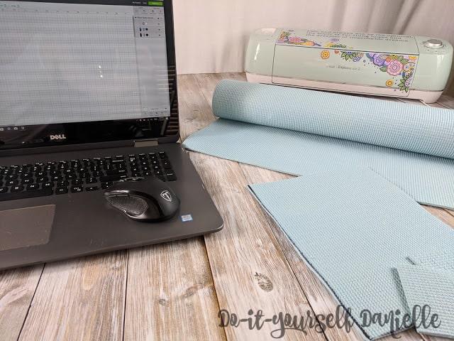 Upcycled yoga mat.