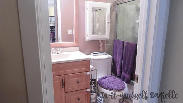 Renovated Tiny Master Bathroom in a 1980's Condominium