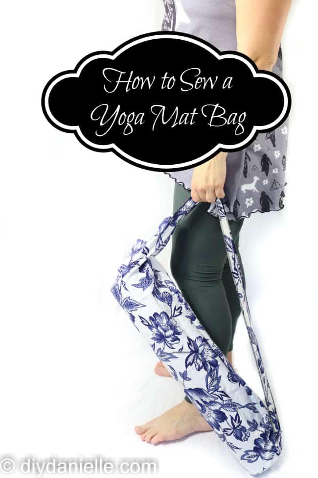DIY Yoga Mat Holder- Super easy to make!