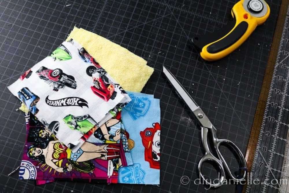 Fabric for the DIY soap holders.