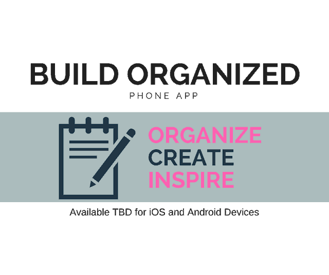Build Organized phone app for woodworking to organize projects and wood.